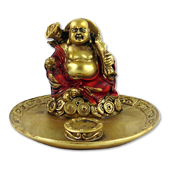 Porte-Encens Bouddha ~ Diamètre : 9,00 cm - Hauteur : 6,00 cm