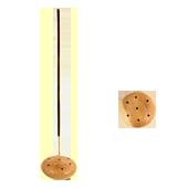 Porte-Encens Bois : Diamètre : 4,50 cm - Hauteur : 2,00 cm