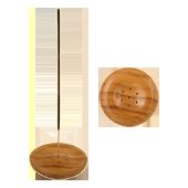 Porte-Encens Bois : Diamètre : 8,00 cm - Hauteur :1,00 cm