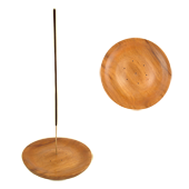 Porte-Encens Bois : Diamètre : 10,00 cm - Hauteur : 1,50 cm