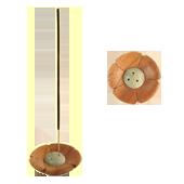 Porte-Encens Bois : Diamètre : 7,00 cm - Hauteur : 1,50 cm