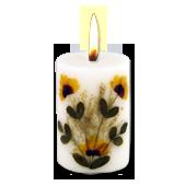 Jasmin : Bougie Naturelle Parfumée à l' Huile Essentielle (4,50 cm x 7,00 cm)