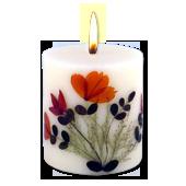 Fleurs de Printemps : Bougie Naturelle Parfumée aux Huiles Essentielles (7,00 cm x 8,00 cm)