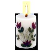Santal : Bougie Naturelle Parfumée à l' Huile Essentielle (4,50 cm x 7,00 cm)