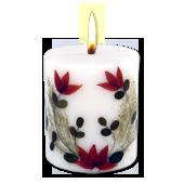 Lavande : Bougie Naturelle Parfumée à l' Huile Essentielle (7,00 cm x 8,00 cm)