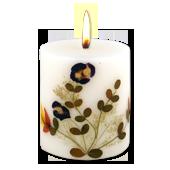 Jasmin : Bougie Naturelle Parfumée à l' Huile Essentielle (7,00 cm x 8,00 cm)