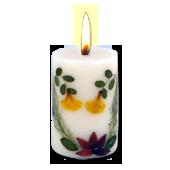 Tubéreuse : Bougie Naturelle Parfumée à l' Huile Essentielle (4,50 cm x 7,00 cm)