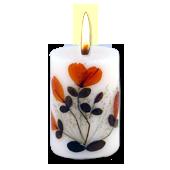 Rose : Bougie Naturelle Parfumée à l' Huile Essentielle (4,50 cm x 7,00 cm)