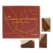 Myrrhe : Encens Indien d' Auroville ( Maroma ) ~ Boîte de 10 Cônes