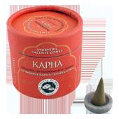 """Kapha : Encens Indien Ayurvédique """" Kapha """" Les Encens du Monde ~ Boîte de 15 Cônes + 1 Porte-Encens"""