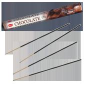 Chocolat : Encens Indien au Chocolat HEM ~ Étui de 20 Bâtonnets
