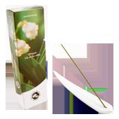 Muguet : Encens Japonais Les Encens du Monde ~ Boîte de 60 Bâtonnets + 1 Porte-Encens