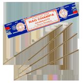 Nag Champa : Encens Indien Satya ~ Étui de 15 Grammes