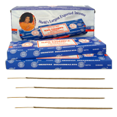 Nag Champa : Encens Indien Satya ~ Bo&icirc;te de 6 &Eacute;tuis de 100 Grammes