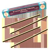 Everest Ritual Tibetan Incense : Encens Tibétain ~ Étui de 25 Bâtonnets + 1 Porte-Encens