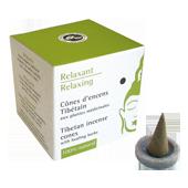 Relaxant : Encens Tibétain ~ Boîte de 15 Cônes + 1 Porte-Encens