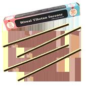 Ritual Tibetan Incense : Encens Tibétain ~ Étui de 25 Bâtonnets + 1 Porte-Encens