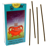 Tibetan Sorig Stress Incense : Encens Tib&eacute;tain ~ &Eacute;tui de 24 B&acirc;tonnets
