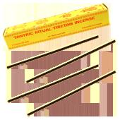 Tantric Ritual Tibetan Incense : Encens Tibétain ~ Étui de 30 Bâtonnets + 1 Porte-Encens
