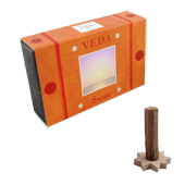 Swar : Encens Indien Veda ( Maroma ) ~ Boîte de 10 Cônes + 1 Porte-Encens