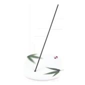 Porte-Encens Porcelaine � Bambou � ~ Longueur : 8,00 cm - Largeur : 8,00 cm