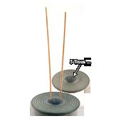 Porte-Encens Pierre Naturelle � Izumo � Gris ~ Diamètre : 11,00 cm - Hauteur : 1,00 cm