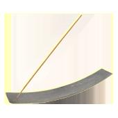 Porte-Encens Pierre Naturelle � Kaya � Gris ~ Longueur : 26,00 cm - Largeur : 4,00 cm - Hauteur : 2,50 cm