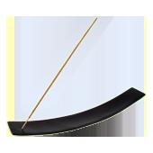 Porte-Encens Pierre Naturelle � Kaya � Noir ~ Longueur : 26,00 cm - Largeur : 4,00 cm - Hauteur : 2,50 cm