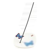 Porte-Encens Porcelaine � Papillon � ~ Longueur : 8,00 cm - Largeur : 8,00 cm