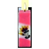 Rose : Bougie Naturelle Parfumée à l' Huile Essentielle