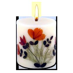 Santal : Bougie Naturelle Parfumée à l' Huile Essentielle (7,00 cm x 8,00 cm)