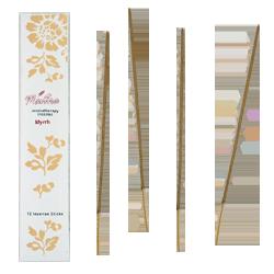 Myrrhe : Encens d' Aromathérapie ( Mantra ) ~ Étui de 12 Bâtonnets