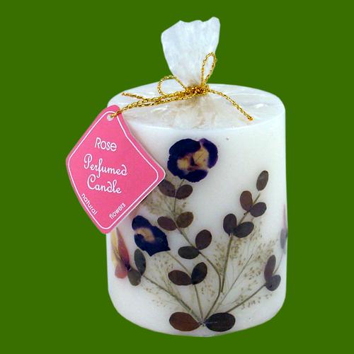 Rose bougie naturelle parfum e l 39 huile essentielle 7 00 cm x 8 00 cm encens de qualit - Bougies naturelles aux huiles essentielles ...