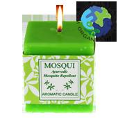 Bougie Anti Moustique d' Auroville ~ Durée de combustion : ± 7 Heures