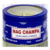 Nag Champa : Bougie Nag Champa ~ Diamètre : 7,50 cm