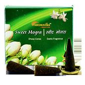 Muguet Doux : Encens Indien Aromatika ~ Boîte de 20 Cônes + 1 Porte-Encens