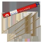 Golden Nag Champa : Encens Indien Vijayshree ~ Étui de 20 Grammes