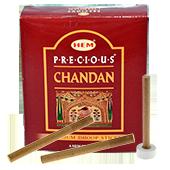 """Dhoop Sticks """" Precious Chandan """" HEM ~ Boîte de 75 Grammes + 1 Porte-Encens Inclu"""