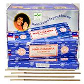 Nag Champa : Encens Indien Satya ~ Boîte de 12 Étuis de 15 Grammes