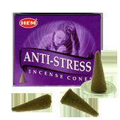 Anti-Stress : Encens Naturel Indien HEM ~ Boîte de 10 Cônes + 1 Porte-Encens