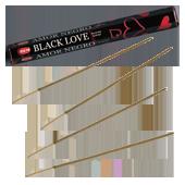 Amour Noir : Encens Indien HEM ~ Boîte Hexagonale de 20 Bâtonnets
