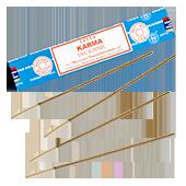 Karma : Encens Indien Satya ~ Boîte de 15 Grammes (13 Bâtonnets)