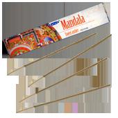 Mandala : Encens Naturel Indien Satya ~ Boîte de 15 Grammes (13 Bâtonnets)