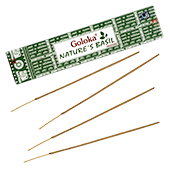 Nature's Basil  : Encens Indien Goloka ~ Boîte de 15 Grammes (13 Bâtonnets)