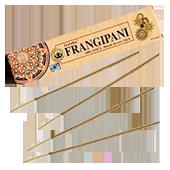 Organica Frangipani : Encens Indien Goloka ~ Boîte de 15 Grammes (14 Bâtonnets)
