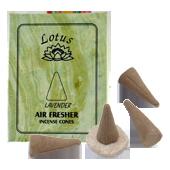 Lavande : Encens Tibétain ~ Boîte de 10 Cônes + 1 Porte-Encens