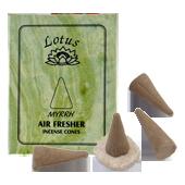 Myrrhe : Encens Tibétain ~ Boîte de 10 Cônes + 1 Porte-Encens