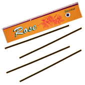 Rose : Encens Tibétain 100% Naturel ~ Étui de ±10 Mini Bâtonnets