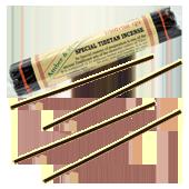 Ambre + Musc : Encens Tibétain 100% Naturel ~ Fagot de ±40 Bâtonnets