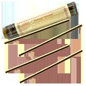 Zhempo Incense : Encens Tibétain ~ Fagot de ±52 Bâtonnets + 1 Porte-Encens